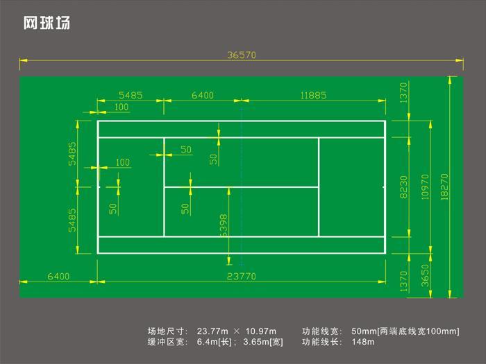 篮球场标准尺寸,网球场标准尺寸,排球场标准尺